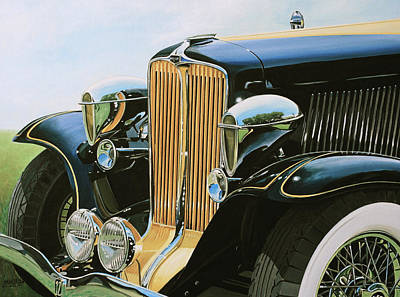 Painting - 1932 Auburn  by Branden Hochstetler
