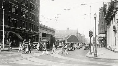 Photograph - 1932 Boylston Street And Mass Ave Boston by Historic Image