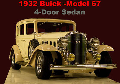 Photograph - 1932 Buick 4door Sedan by B Wayne Mullins