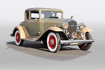 Automotive Art Series Wall Art - Photograph - 1932 Buick 96 S Coupe '3q Pass Side' by Dave Koontz