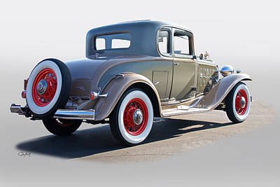 Automotive Art Series Wall Art - Photograph - 1932 Buick 96 S Coupe '3q Rear View' by Dave Koontz