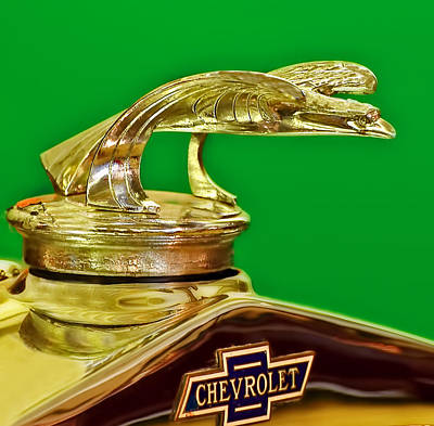 Photograph - 1932 Chevrolet Eagle Hood Ornament by Ginger Wakem
