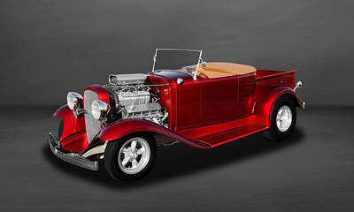 Photograph - 1932 Chevrolet Roadster Convertible Pickup Truck  -  32chtrkrds500 by Frank J Benz