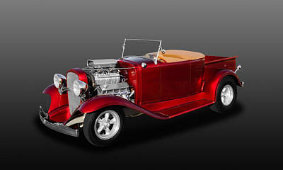 1932 Chevrolet Roadster Pickup Truck Convertible  -  32chrdtrk700 Art Print
