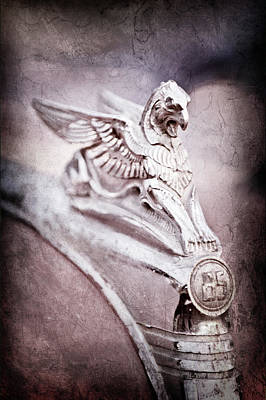 Essex Wall Art - Photograph - 1932 Essex Griffin Hood Ornament -0482ac by Jill Reger