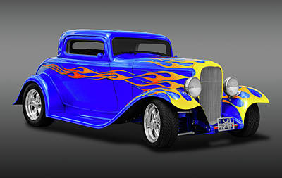 Photograph - 1932 Ford 3 Window Coupe  -  19323winfdcoupefa171005 by Frank J Benz