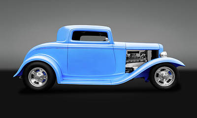 Photograph - 1932 Ford 3 Window Coupe  -  1932ford3wincpegry119312 by Frank J Benz