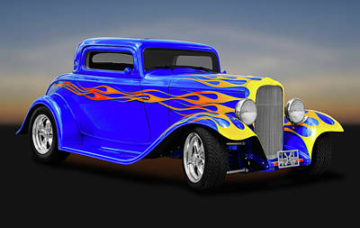Photograph - 1932 Ford 3 Window Coupe  -  1932ford3windowcoupe171005 by Frank J Benz