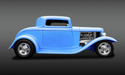 Photograph - 1932 Ford 3 Window Coupe  -  1932ford3windowfa119312 by Frank J Benz