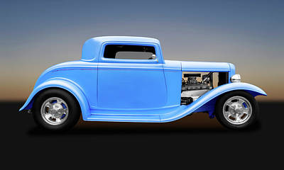 Photograph - 1932 Ford 3 Window Coupe  -  1932fordcoupe119312 by Frank J Benz