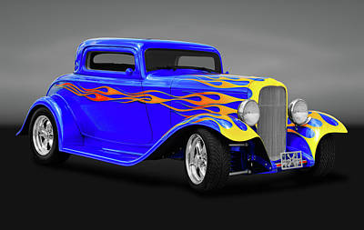 Photograph - 1932 Ford 3 Window Coupe  -  1932fordcoupe3wingry171005 by Frank J Benz