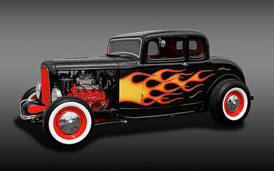Photograph - 1932 Ford 5-window Coupe  -  1932ford5wincpefa170308 by Frank J Benz