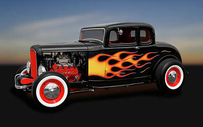 Photograph - 1932 Ford 5-window Coupe  -  1932ford5windowcpe170308 by Frank J Benz