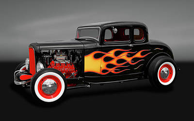 Photograph - 1932 Ford 5-window Coupe  -  1932fordcoupegry170308 by Frank J Benz