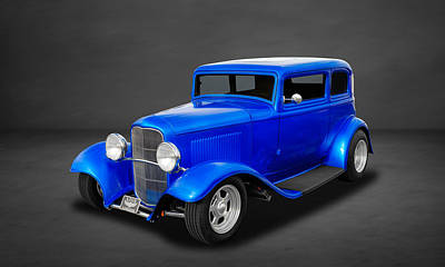 1932 Ford 5-window Sedan  -  3 Art Print by Frank J Benz