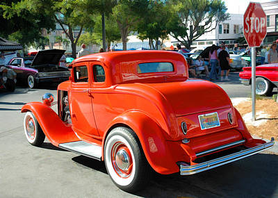 Photograph - 1932 Ford  5 Window Coupe by Ginger Wakem