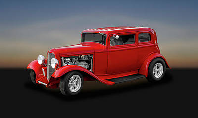 Photograph - 1932 Ford 5 Window Sedan  -  32fdsd by Frank J Benz