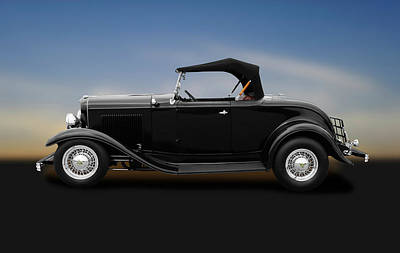 Photograph - 1932 Ford Convertible Coupe Roadster  -  1932fordroadsterconvertiblecoupe184430 by Frank J Benz