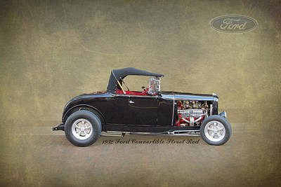 Wheels Photograph - 1932 Ford Convertible Street Rod by J Darrell Hutto