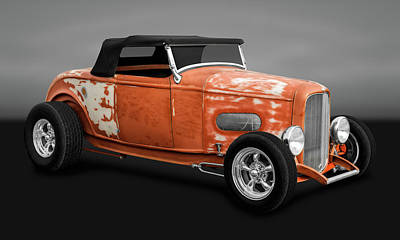 Photograph - 1932 Ford Convertible Work In Progress  -  33fordcvgry9744 by Frank J Benz