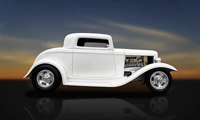 Photograph - 1932 Ford Coupe - 3 Window by Frank J Benz