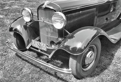 Photograph - 1932 Ford Coupe Bw by David King