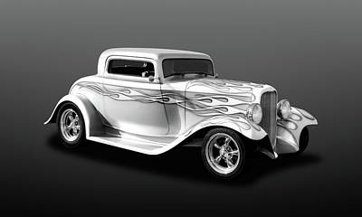 Photograph - 1932 Ford Coupe With Flames  -  32fdcpebw518 by Frank J Benz