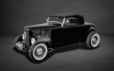 Photograph - 1932 Ford Flat Head Powered Coupe  -  Bw  -  3 by Frank J Benz