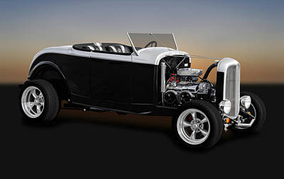 Photograph - 1932 Ford High Boy Roadster  -  1932fdhbrdstr0031 by Frank J Benz