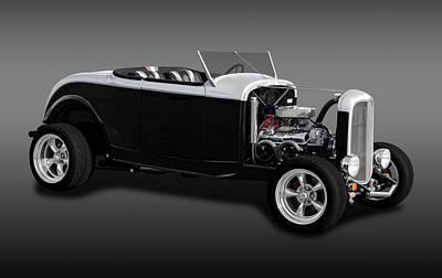 Photograph - 1932 Ford High Boy Roadster  -  1932fordhbrdfa0031 by Frank J Benz