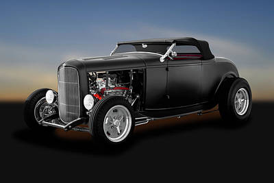 Photograph - 1932 Ford High Boy Roadster  -  1932fordhighboyconvertible183933 by Frank J Benz