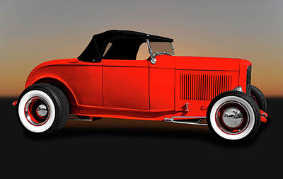 Photograph - 1932 Ford High Boy Roadster Convertible  -  1932fordhighboyconvertible172109 by Frank J Benz