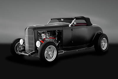 Photograph - 1932 Ford High Boy Roadster Convertible  -  1932highboyfordconvertgry183933 by Frank J Benz