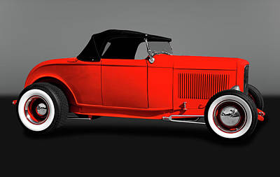 Photograph - 1932 Ford High Boy Roadster Convertible  -  1932highboyfordcvgry172109 by Frank J Benz