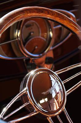 1932 Ford Hot Rod Steering Wheel Art Print