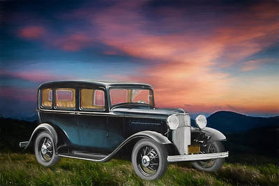 Digital Art - 1932 Ford by John Haldane