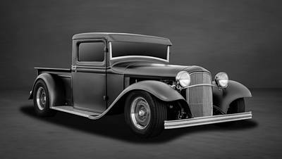 Photograph - 1932 Ford Pickup Truck  -  4bw by Frank J Benz