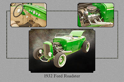 Photograph - 1932 Ford Roadster Color Photographs And Fine Art Prints 008.02 by M K  Miller