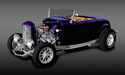 Photograph - 1932 Ford Roadster Convertible   -  1932fdrdcvfa9840 by Frank J Benz
