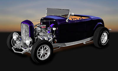 Photograph - 1932 Ford Roadster Convertible  -  1932fordroad9840 by Frank J Benz