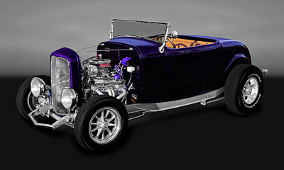 Photograph - 1932 Ford Roadster Convertible  -  32fdrdcvgryfa9840 by Frank J Benz