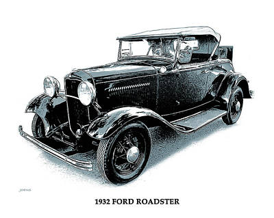 Mixed Media Royalty Free Images - 1932 Ford Roadster Royalty-Free Image by Greg Joens