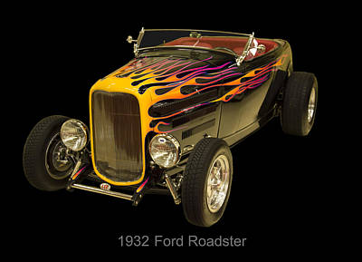 Digital Art - 1932 Ford Roadster Hot Rod by Chris Flees