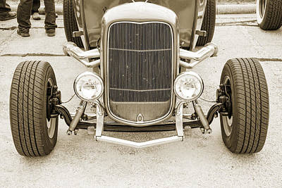 Photograph - 1932 Ford Roadster Sepia Posters And Prints 022.01 by M K  Miller