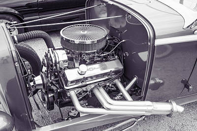 Photograph - 1932 Ford Roadster Sepia Posters And Prints 023.01 by M K  Miller
