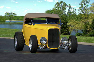Photograph - 1932 Ford Roadster by TeeMack