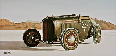 Painting - 1932 Ford Rolling Bones Roadster by Branden Hochstetler