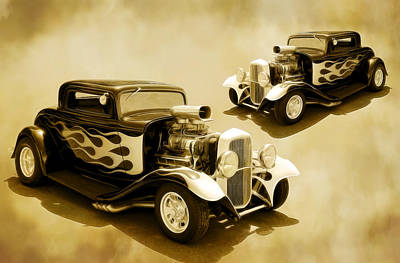 Photograph - 1932 Fords by Steve McKinzie