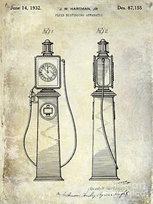 Filling Station Photograph - 1932 Gas Pump Patent  by Jon Neidert