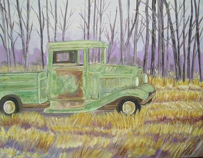 Art Print featuring the painting 1932  Greenford Pickup Truck by Belinda Lawson